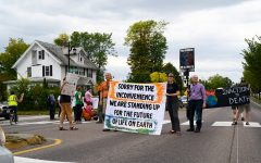 Climate activists block traffic during rush hour in Burlington