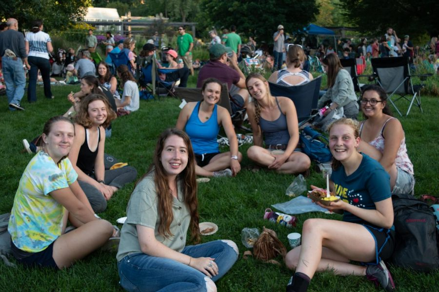 A+group+of+UVM+students+relax+on+the+grass+at+Summervale+Festival%2C+Aug.+29.