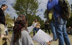 BREAKING: Student protestors rally against preacher on campus