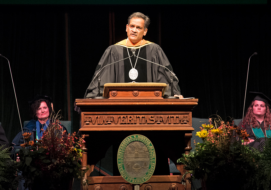 +President+Suresh+Garimella+speaks+to+the+class+of+2023+at+the+annual+Convocation+Ceremony%2C+Aug.+25.+%E2%80%9CMy+top+priority+is+the+student+and+their+success%2C+which+means+that+we+should+offer+them+the+highest+quality+of+education+we+can%2C+that%E2%80%99s+updated%2C%E2%80%9D+Garimella+said.%0A