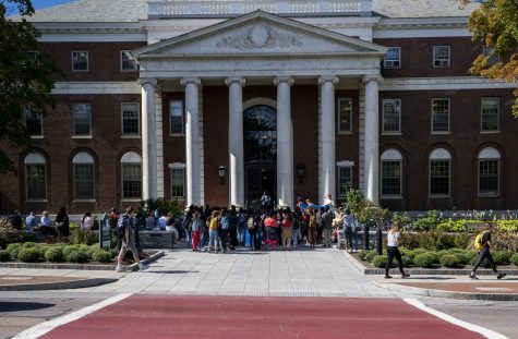 Breaking: Students rally in front of Waterman, demand Campus Climate data