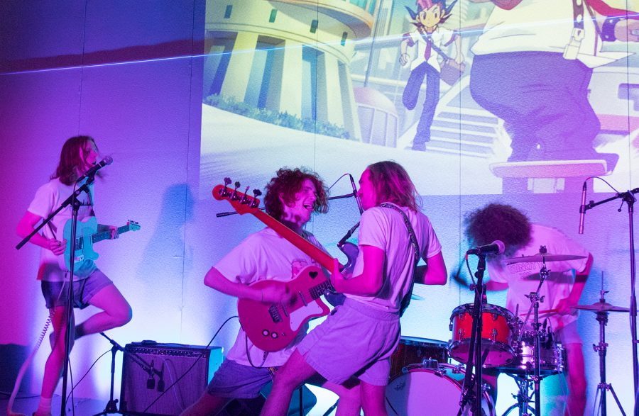 Members of Boys Cruise perform during the Abolish ICE concert in the Davis Center, Oct. 18. The band's new album is available on music streaming services or can be digitally purchased on Bandcamp for $7.