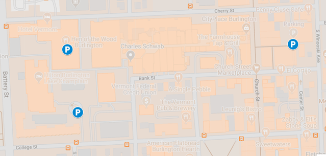 In this map provided by the Department of Public Works, the three city garages where free parking is available are indicated. All cars must be removed by 8 a.m. Nov. 12.