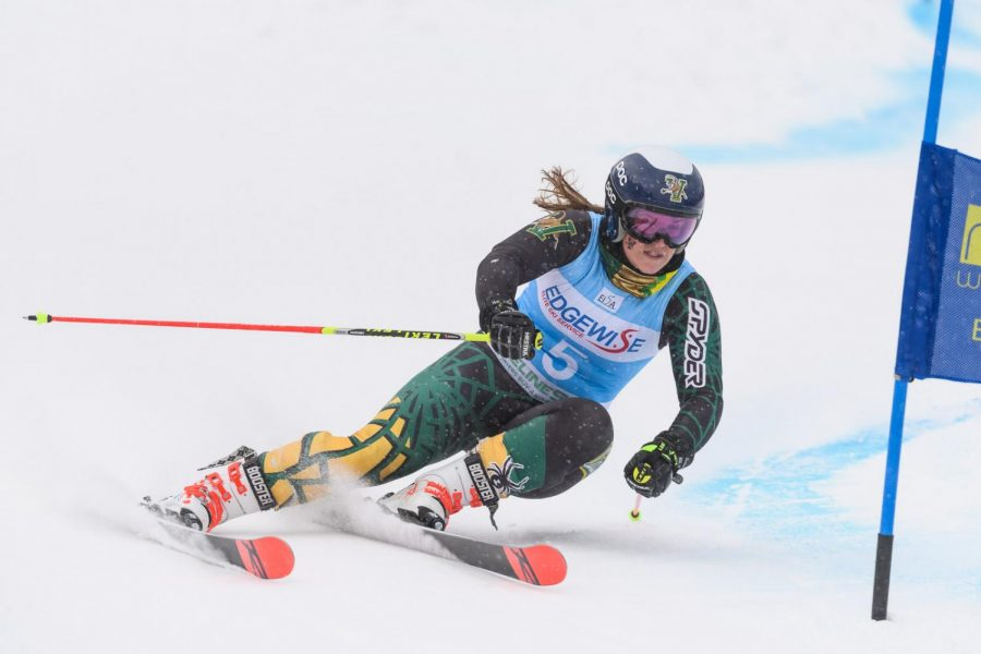 Former+student+Paula+Moltzan+skis+for+UVM+during+her+2019+season.+Moltzan+has+been+on+the+U.S.+Ski+team+since+2012.%0A