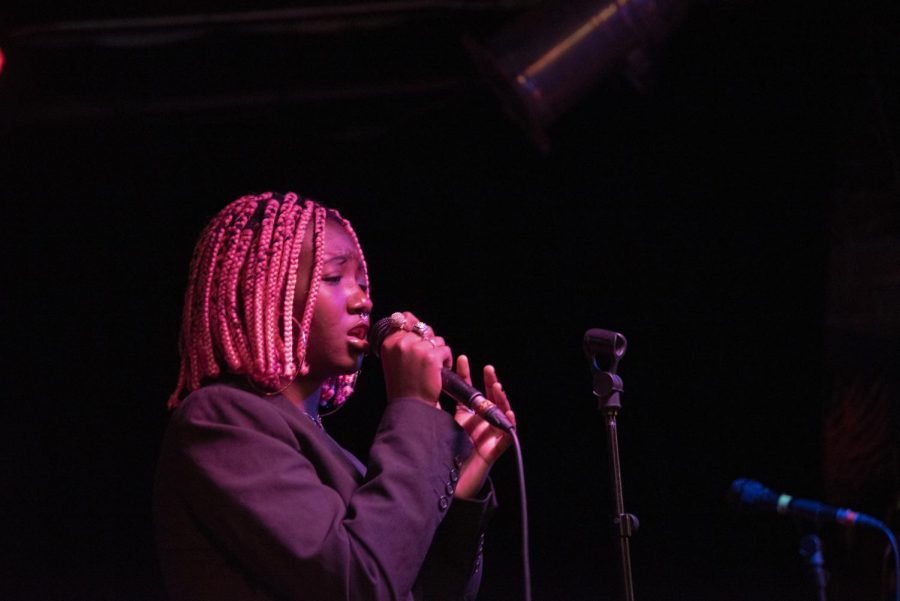Senior Ivana Djiya performs onstage at Nectar's, Feb. 13. Djiya also showcases her work on SoundCloud.