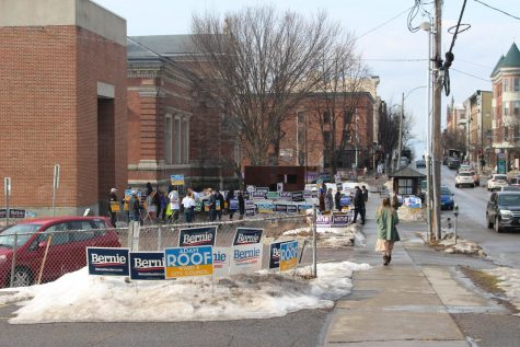 Seen here is the ward 8 polling place at the Fletcher Free Library.