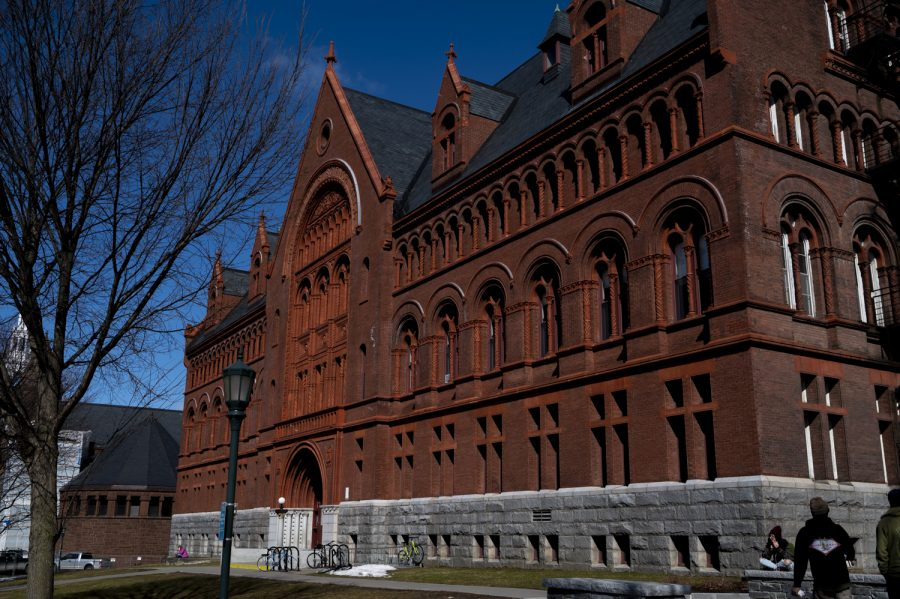 Williams Hall stands on College Row, March 5. The building has stood on UVM's campus since 1896.