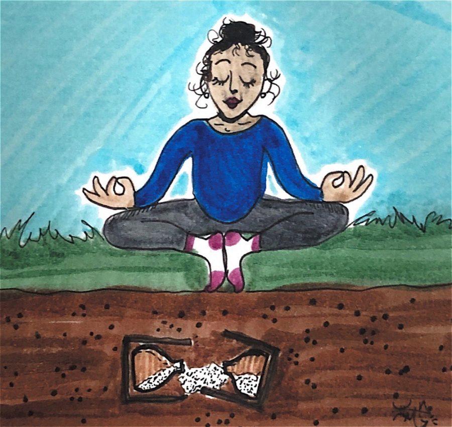 Outdoor yoga brings a breath of fresh air