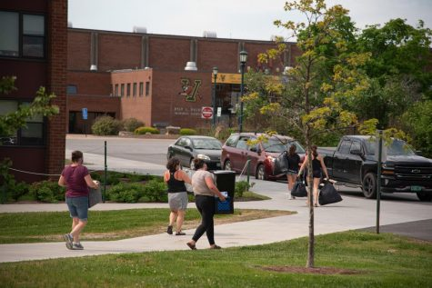 In-state students begin moving out of Harris-Millis residential hall May 29.