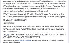 Director of Student Life posts harsh words about student activists on Facebook