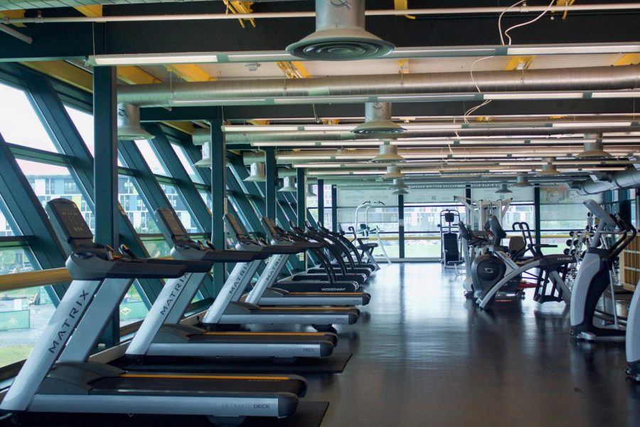 The Gucciardi Fitness center, usually bustling with students, sits empty days before students arrive to campus.