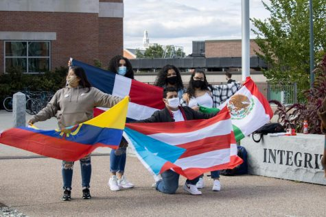Alianza Latinx raises Hispanic Heritage Month Flag