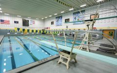 The UVM swimming pool lays empty and still in the Patrick Gym, Sept. 17.