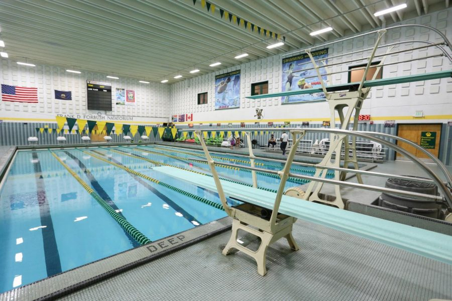 The+UVM+swimming+pool+lays+empty+and+still+in+the+Patrick+Gym%2C+Sept.+17.
