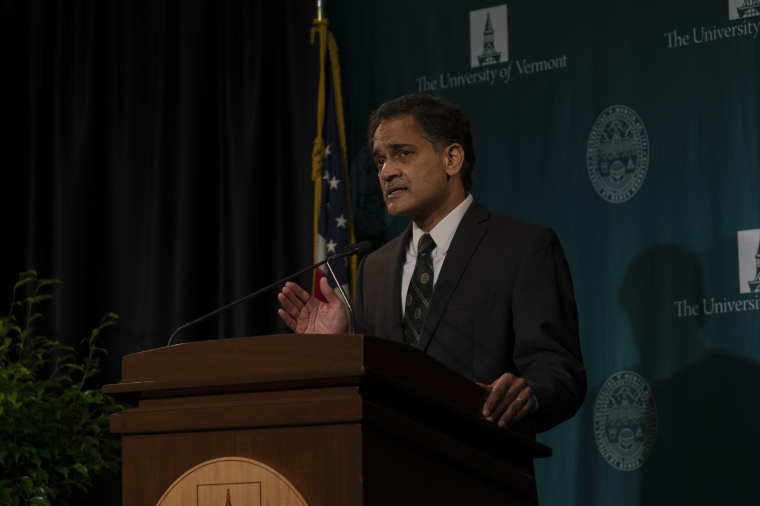 UVM President Suresh Garimella announced UVM will freeze tuition for the 2020-2021 school year at an Oct. 26 press conference, marking the third consecutive year of the school