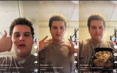 Sophomore Sam Joyner posted a video on TikTok for his second day in isolation after going to his sister's wedding, sharing what food UVM gave him.