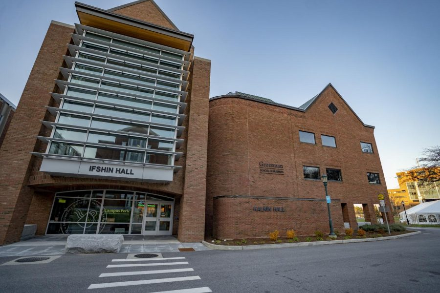 The Grossman School of Business is made up of Ifshin and Kalkin Halls, pictured Nov. 8