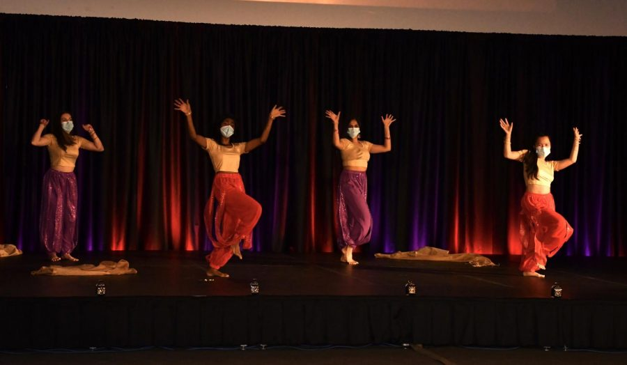 Students perform traditional dance styles at the Diwali celebration Nov. 14.