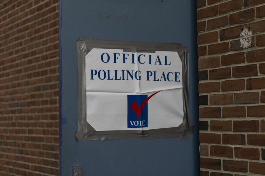 The door to the Ward 1 polling place is opened wide, welcoming Burlington residents inside to cast their ballots Nov. 3.