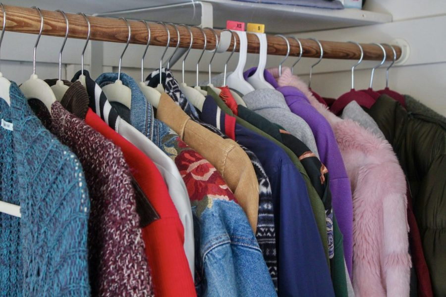 Shea's jackets fill the right side of her closet, displaying a wide selection of color, fabrics and styles Jan. 30.