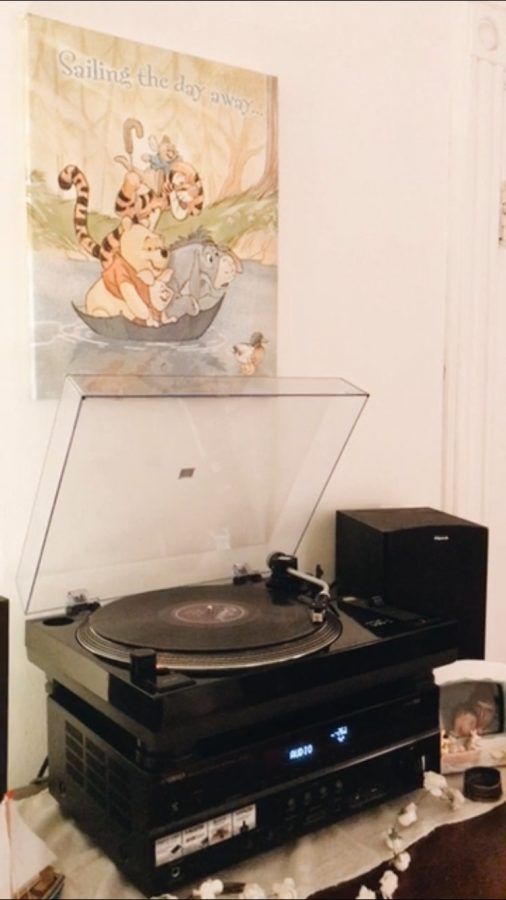 Laura Meyer's record player sits in her off-campus apartment Jan. 28.
