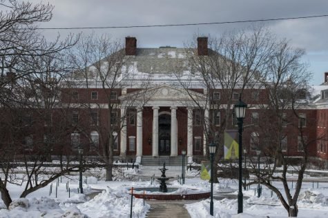 The Waterman building stands across the street from UVM's central campus Jan. 28. The Waterman building houses the UVM upper administration offices.