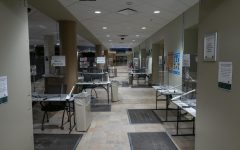 UVM Students come to the first floor of the Davis Center to get tested weekly for COVID-19.