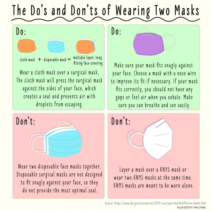 two masks infographic second one