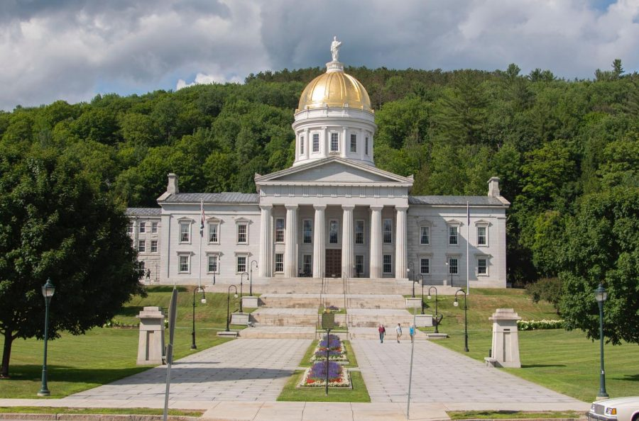 The Vermont Statehouse sits on the side of State street in Montpelier, Vt. July 23.
