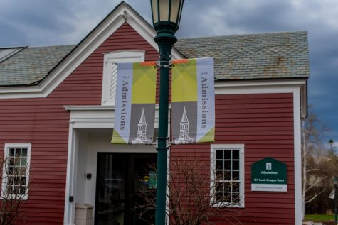 The UVM admissions building is found on South Prospect street Sunday April 10.