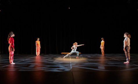 "Students perform ""Five,"" choreographed by Jennilee Stocker at the Royal Tyler Theater April 17."