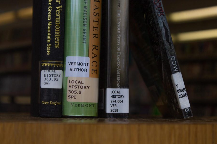 A group of books on local history from the Fletcher Free Library talk about the history of Eugenics in Vermont April 17.