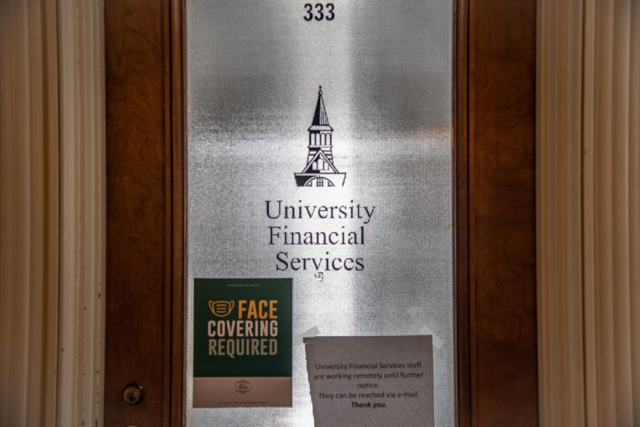 UVM's financial services are located on the third floor of Waterman April 20.