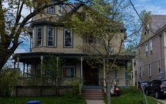 The vandalised home at 86 Buell street photographed May 16.