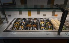 Packaged entrees at Northside Dining Hall wait to be purchased by students Sept. 9.