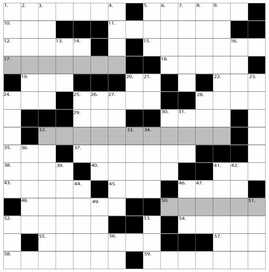 New biweekly crossword, UVM theme