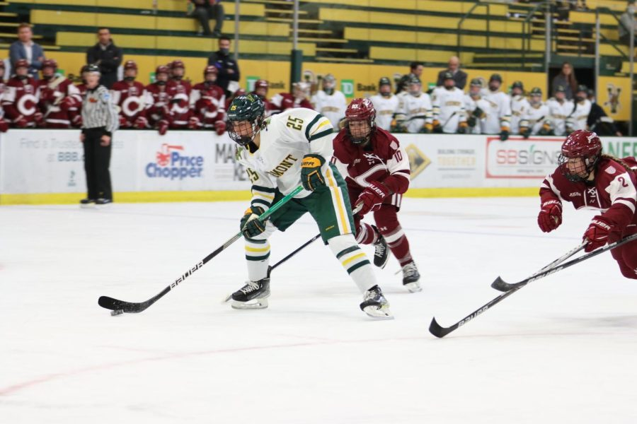 UVM womens hockey played Colgate this weekend Oct. 9 and 10.