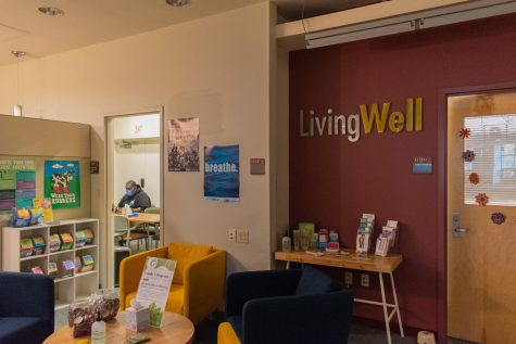 The Living Well office is located on the first floor of the Davis Center.